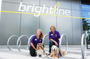 Therapy Dogs to Bring Joy and Stress Relief to Brightline Riders