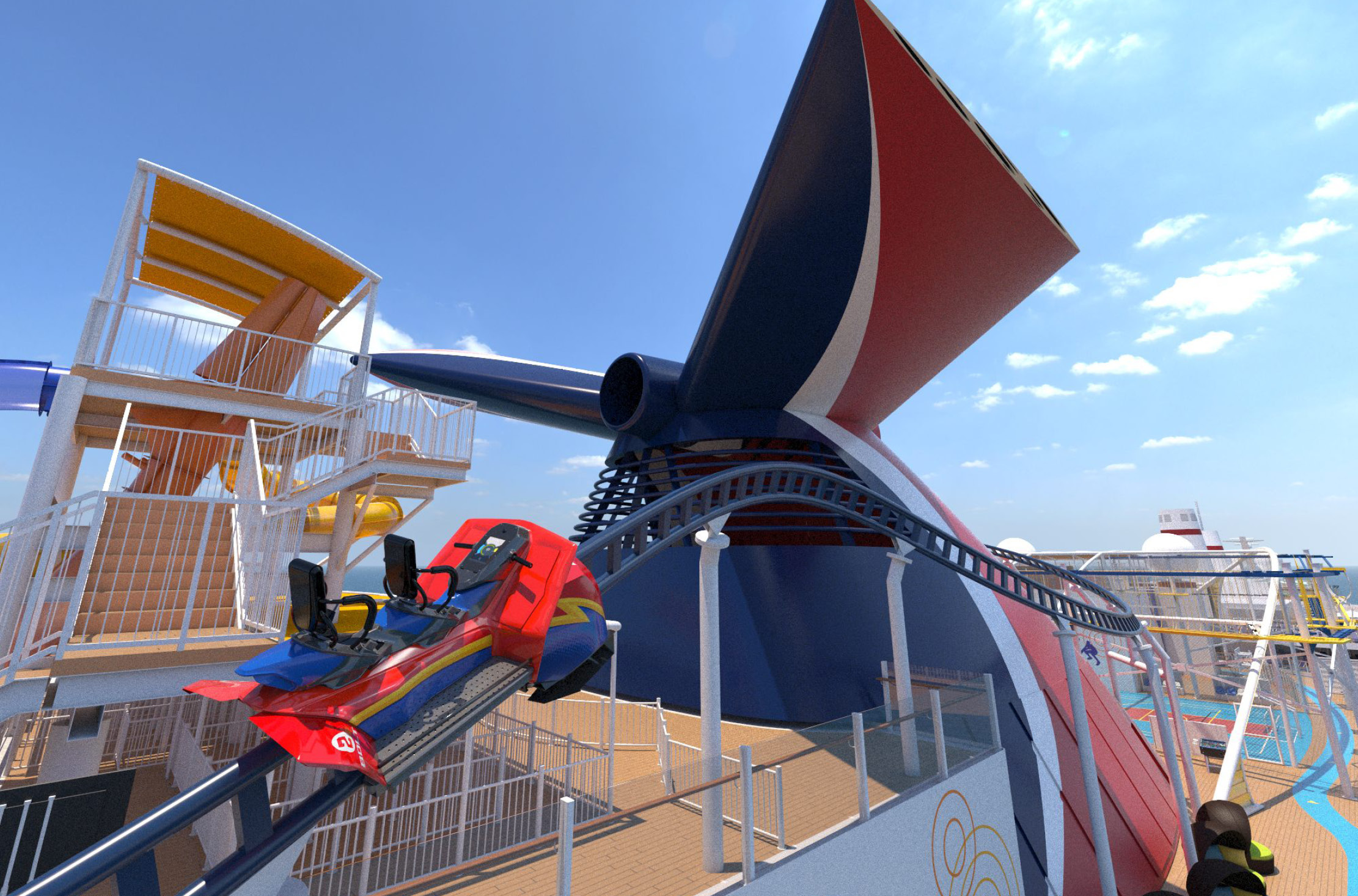 Carnival Cruise Line Unveils Details on First Roller Coaster