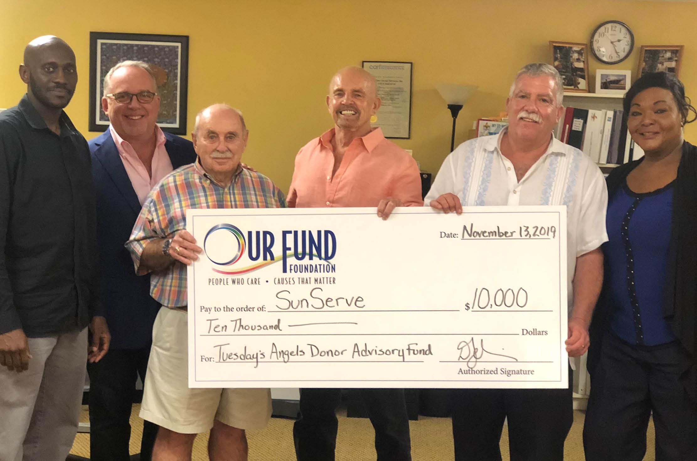 Tuesday's Angels Donates $25,000