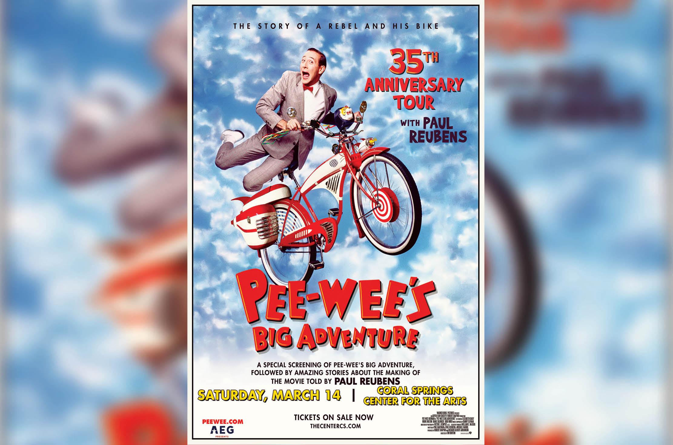 Paul Reubens to Headline 35th Anniversary of Pee-Wee's Big Adventure