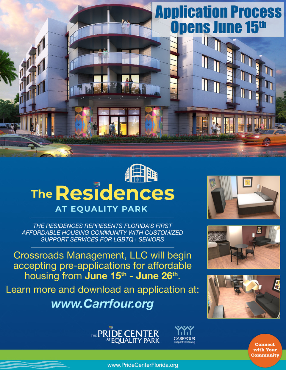 Application process for The Residences at Equality Park