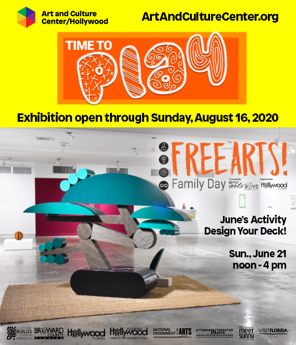 "Art and Culture Center/Hollywood | ""Time to Play"" Exhibition"