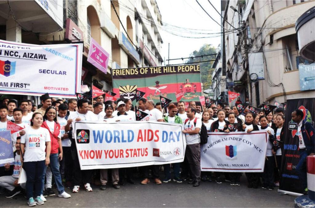 Advocacy efforts on World AIDS Day in Mizoram