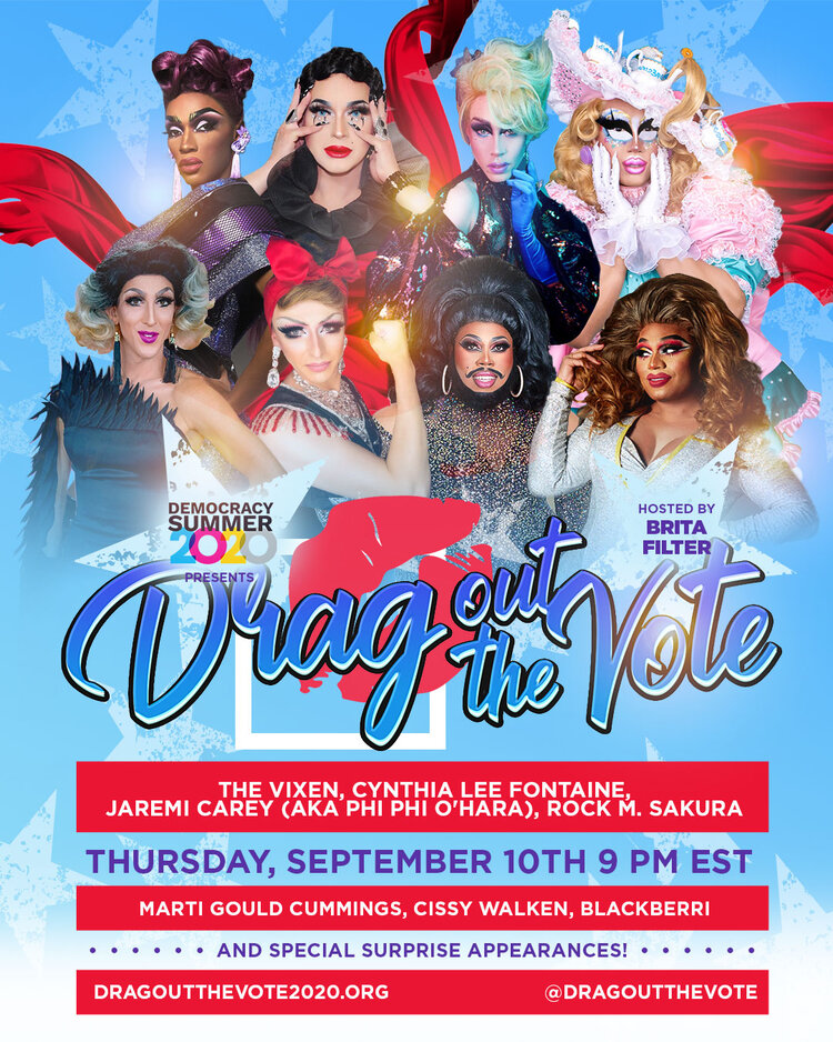 Dr Steven chats with Jackie from Drag Out the Vote