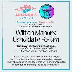 Arianna's Center and TransInclusive Wilton Manors Candidate Forum
