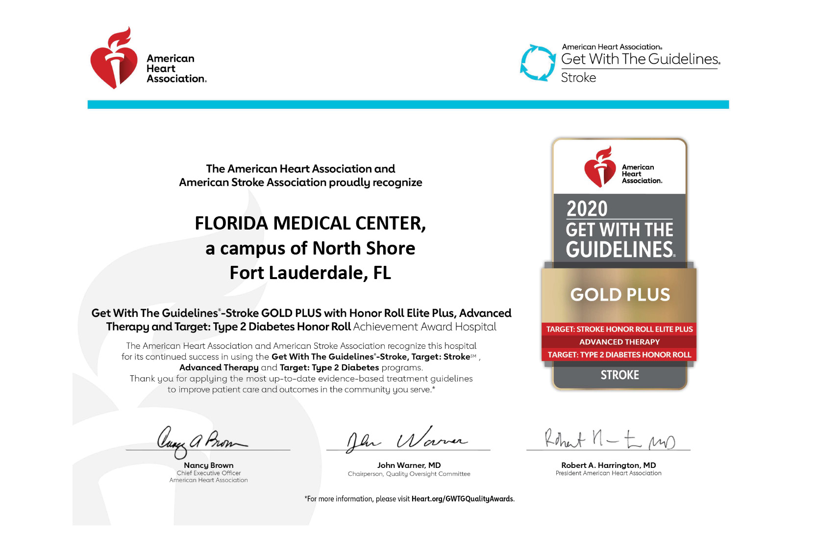 Florida Medical Center Earns