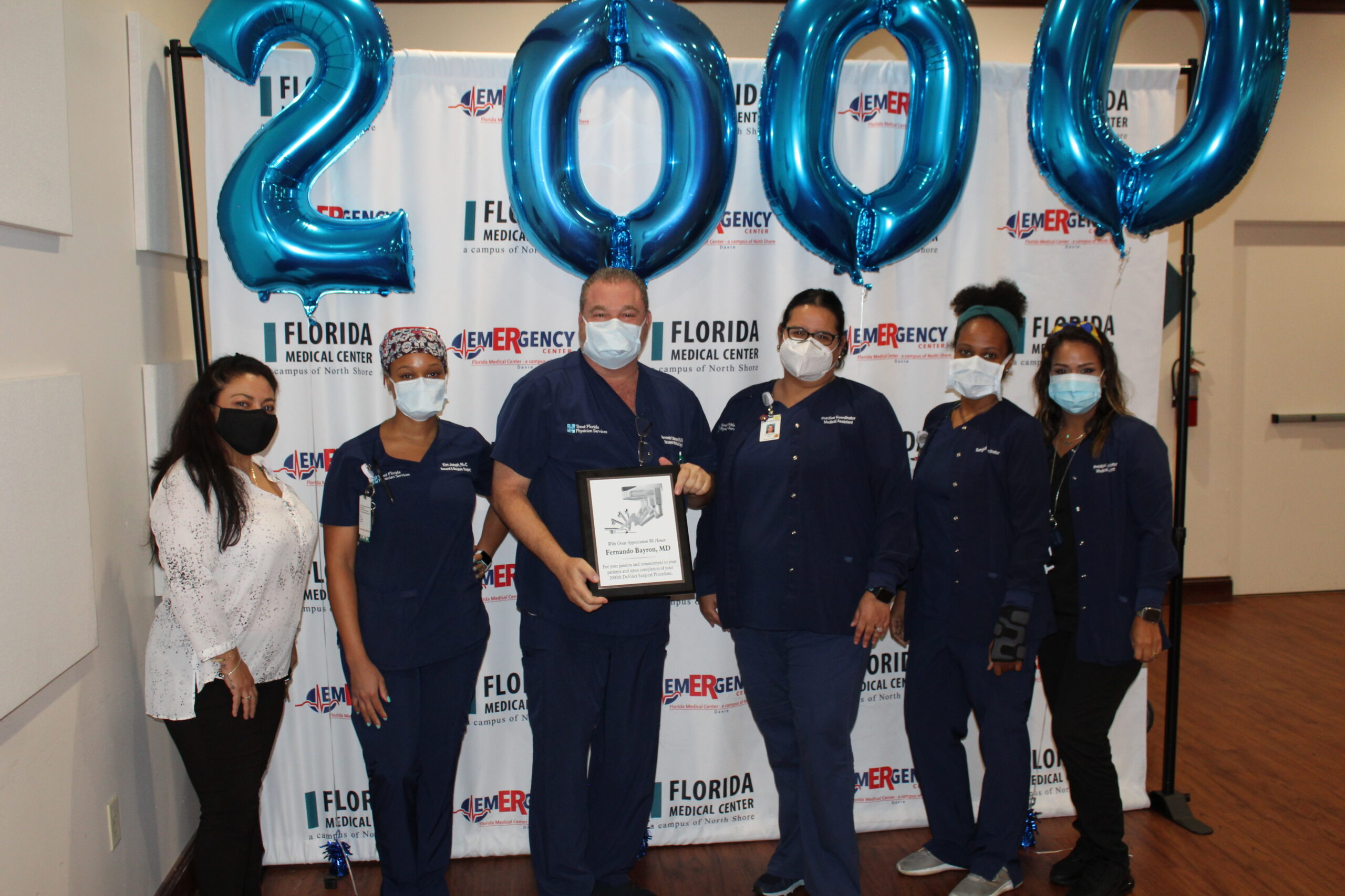 FLMC Celebrates 2000 Robotics Cases with Dr. Bayron