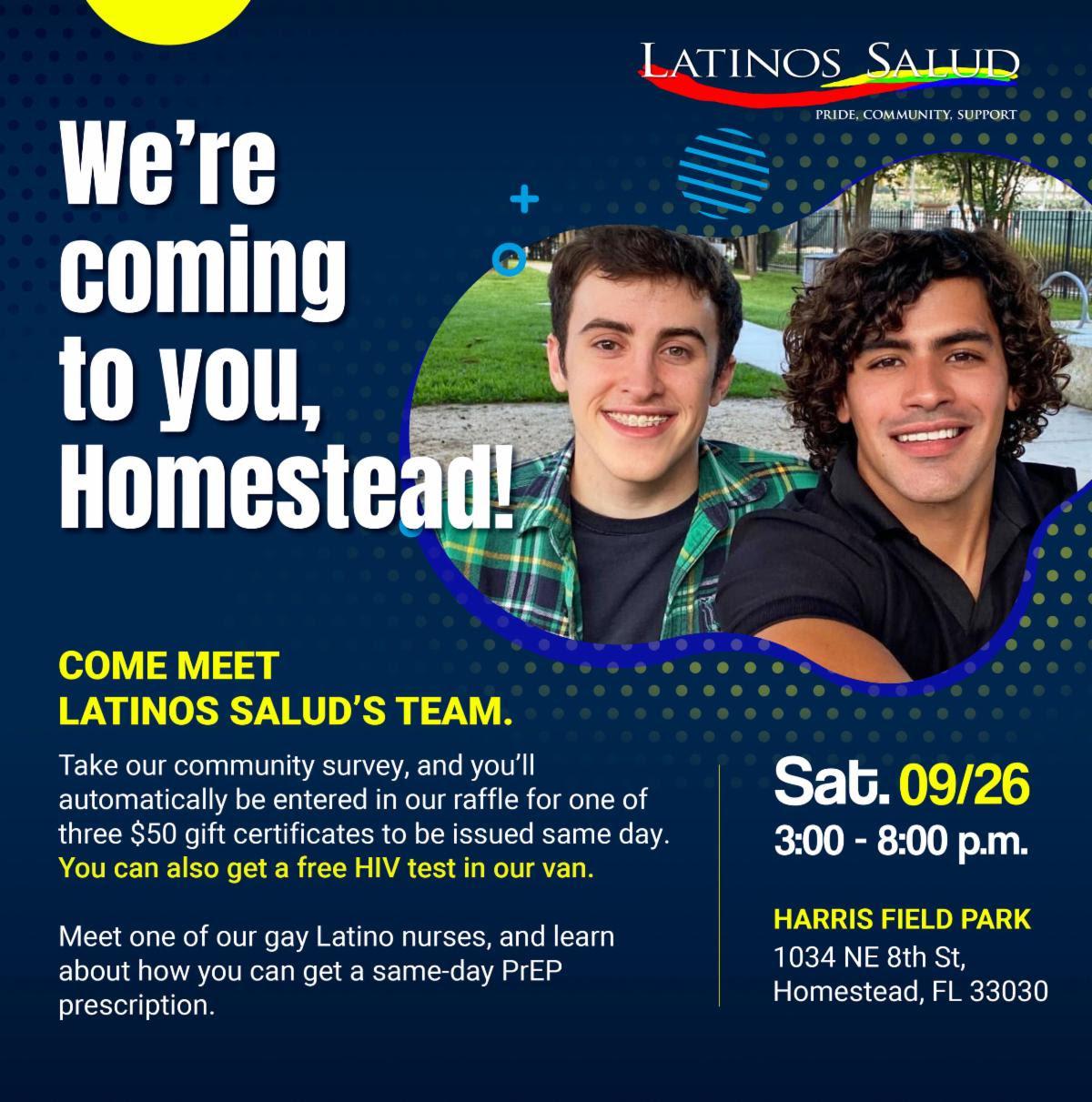Latinos Salud – Comes to Homestead!