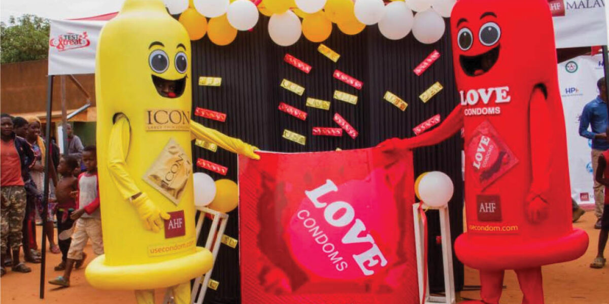 AHF_LOVE and ICON Gold Condoms
