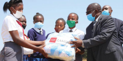 AHF in Zambia providing Reusable Sanitary Pads